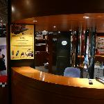 Great displays at the Grand Prix Museum - front desk