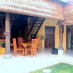 Espace commun d'un bungalow
