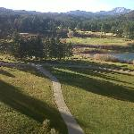 balcony view of grounds and golf course