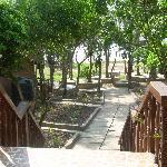 L'escalier qui mène à la plage
