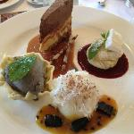 Dessert Platter with Pannacotta Meringue and Belgian Chocolate