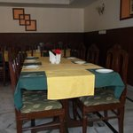 dirty linen in dining area