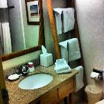 mind you, not all the bathrooms where set up like this, some had the sink outside the bathroom b