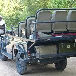 Milton on our land rover for the game drives