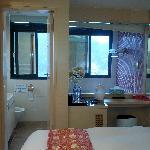Bad vom Zimmer ausgesehen