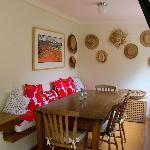 Indoor cozy dining room