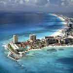 Cancun widok z samolotu