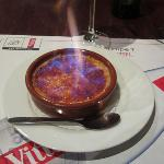 Creme Brûlée served flaming tableside