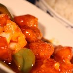 Sweet & Sour Chicken with Boiled Rice