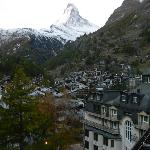 View of Matterhorn from our balcony