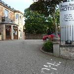 Entrance to Beaufort Hotel - good parking & next to bus stop
