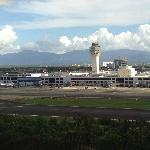 View of airport from hotel