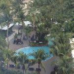 View of pool area from 10th floor