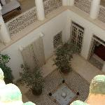 View from rooftop into the riad