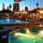 Pool/jacuzzi area