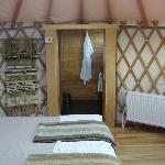 Entrance to Bathroom in Yurt