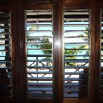 La vue de l'intérieur de la chambre