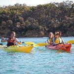 Sea kayaking fun on Batemans Bay