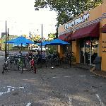 Crossroads' outdoor seating