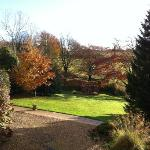 A view from Rose Cottage at Little Quarme on a beautiful November day