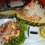 Fabulous pineapple dinner