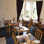 Individual tables in our light Breakfast Room