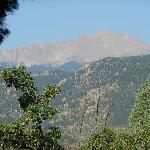 Vue du jardin: Pikes Peak