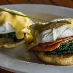 Lovely eggs benedict at breakfast
