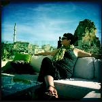 relaxing on the terrace