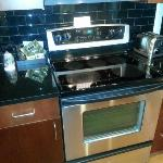 Fullsize Stainless Steel Range in Hotel Room
