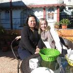 Sonia on the left is the owner and she is the best cook and extremely kind hearted. Sonia cooks