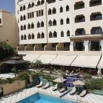 la vista dell'hotel dalla terrazza