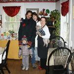 Con Deborah e Leon nella stanza delle colazioni