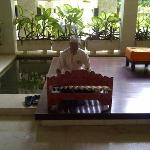 Hotel staff playing traditional music