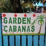 Garden Cabanas Sign