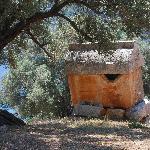 Un des nombreux tombeaux Lyciens derrière le chateau de Kalekoy