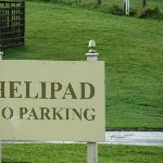 the Helipad...... not the car park!