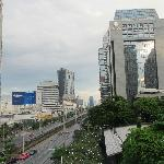 View of Sathorn Road from the roof