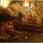 private separe in the Cave Restaurant