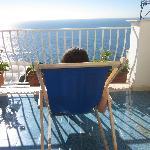 suntanning on the balcony