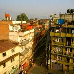 View of Paknajol Road from the rooftop