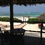 la spiaggia vista dalla veranda