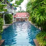 This pool can be entered directly from the Superior Rooms