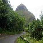 Ape Head -- road past Hanalei