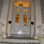 Buzzer on left side of door to enter building