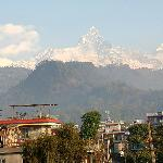 Himalayas seen from Hotel Lovely Mount