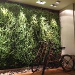lobby with free bikes
