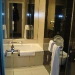 Separate bathtub, nice shower stall, etc.