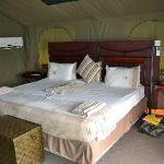 chambre dans la tente