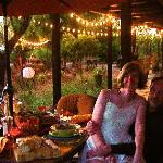 Have dinner outside in the beautiful courtyard at Hacienda Linda!